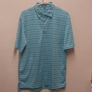 Peter Millar Summer Comfort L Teal Polo Golf Shirt